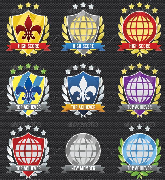 Rank / Rating / Achievement Award Symbols
